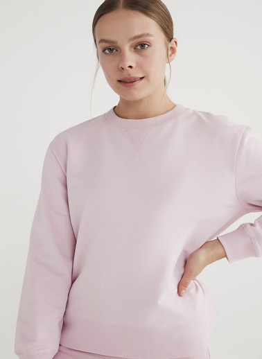 Penti Kadın Pembe Boyfriend  Sweatshirt PHSFBPO521IY Pembe